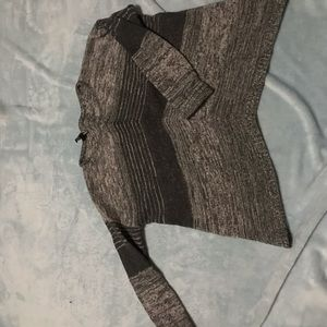 Express black and gray knit sweater